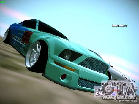 Ford Shelby GT500 Falken Tire Justin Pawlak 2012 for GTA San Andreas right view