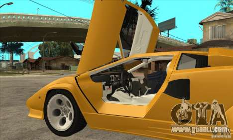 Lamborghini Countach for GTA San Andreas inner view