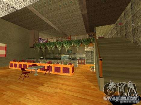 New interior Marco's Bistro for GTA San Andreas fifth screenshot