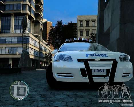 NYPD Chevrolet Impala 2006 [ELS] for GTA 4 back view