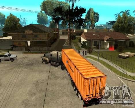 Krone Trailer Hapag-LLoyd for GTA San Andreas right view