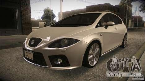 Seat Leon Cupra for GTA San Andreas inner view