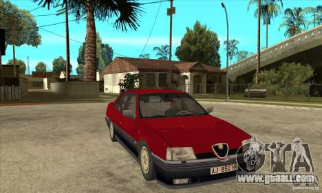 Alfa Romeo 164 for GTA San Andreas back view