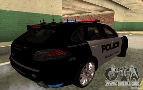 Porsche Cayenne Turbo 958 Seacrest Police for GTA San Andreas right view