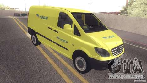 Mercedes Benz Vito Pošta Srbije for GTA San Andreas left view