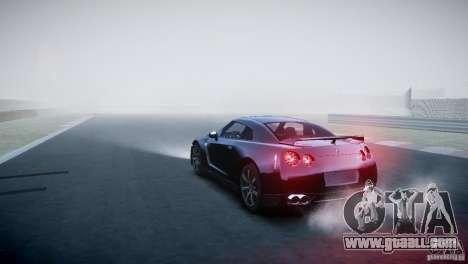 Nissan GT-R R35 V1.2 2010 for GTA 4 back left view