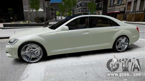 Mercedes-Benz S65 AMG LONG 2010 for GTA 4 back view