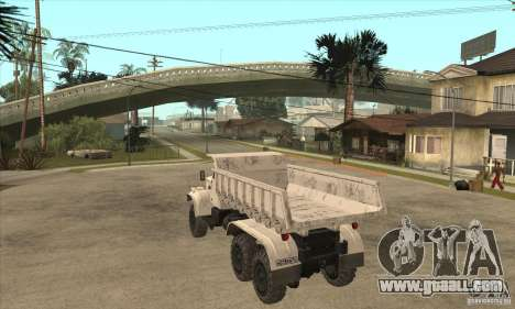 KRAZ dump truck 225 for GTA San Andreas right view