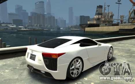 Lexus LFA v1.0 for GTA 4 right view