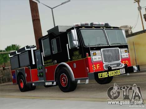 Seagrave Marauder Engine SFFD for GTA San Andreas left view