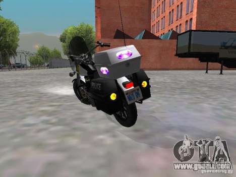 Harley Davidson Dyna Defender for GTA San Andreas right view