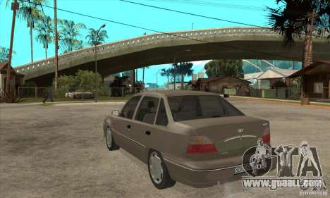 Daewoo Nexia Dohc 2009 for GTA San Andreas back left view