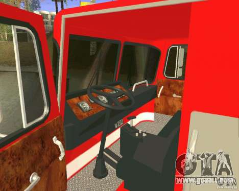 Pumper Firetruck Los Angeles Fire Dept for GTA San Andreas side view
