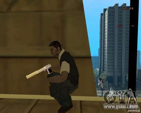 Chrome Desert Eagle for GTA San Andreas forth screenshot