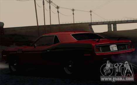 Plymouth Hemi Cuda 426 1971 for GTA San Andreas back view