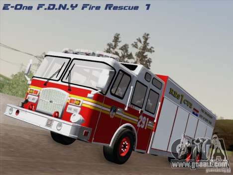 E-One F.D.N.Y Fire Rescue 1 for GTA San Andreas