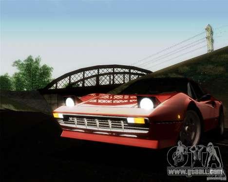 Ferrari 308 GTS Quattrovalvole for GTA San Andreas upper view