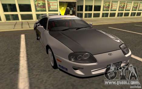 Toyota Supra RZ 1998 for GTA San Andreas back left view