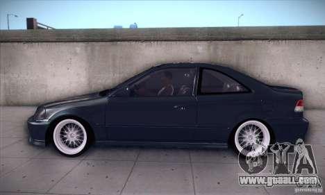 Honda Civic 6Gen for GTA San Andreas left view