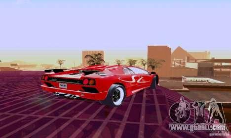 Lamborghini Diablo SV 1997 for GTA San Andreas back view