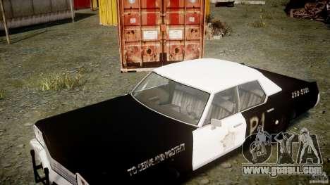 Dodge Monaco 1974 (bluesmobile) for GTA 4 side view
