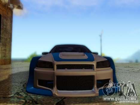 Nissan Skyline GTR34 DTM for GTA San Andreas back view
