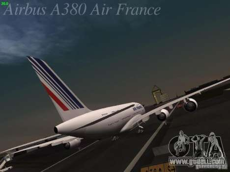 Airbus A380-800 Air France for GTA San Andreas right view