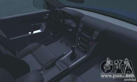 Subaru Legacy 2004 v1.0 for GTA San Andreas upper view