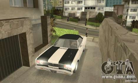 Plymouth Roadrunner 383 for GTA San Andreas bottom view