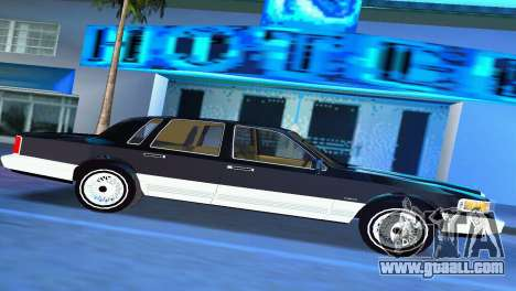Lincoln Town Car 1997 for GTA Vice City left view
