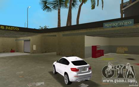 BMW X6M 2010 for GTA Vice City back left view
