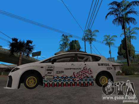 Seat Leon Cupra Bound Dynamic for GTA San Andreas left view