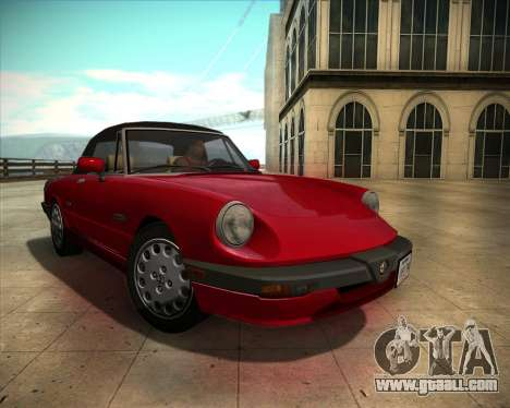 Alfa Romeo Spider 115 1986 for GTA San Andreas back view