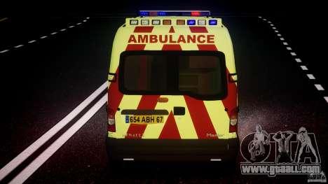Renault Master 2007 Ambulance Scottish for GTA 4 wheels
