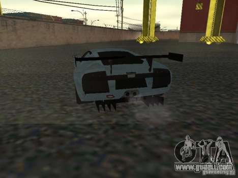 Lamborghini Murcielago R-GT for GTA San Andreas inner view