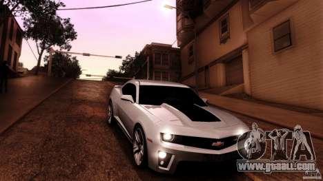Chevrolet Camaro ZL1 2011 v1.0 for GTA San Andreas upper view