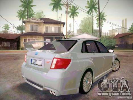 Subaru Impreza WRX STI 2011 Sedan for GTA San Andreas back left view
