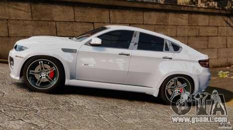 BMW X6 Hamann Evo22 no Carbon for GTA 4 left view