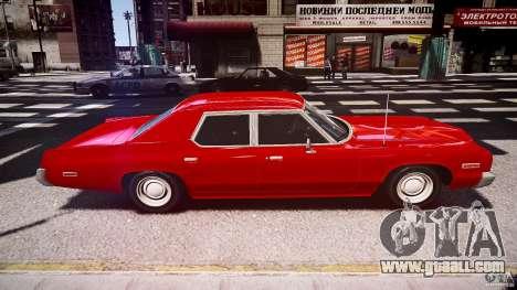 Dodge Monaco 1974 stok rims for GTA 4 inner view