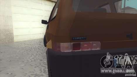 Fiat Cinquecento for GTA San Andreas back view