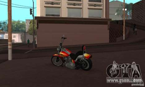 Harley Davidson softail Skin 2 for GTA San Andreas right view