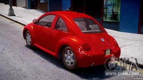 Volkswagen New Beetle 2003 for GTA 4 back left view