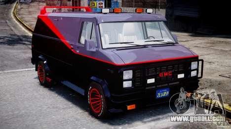 GMC Vandura A-Team Van 1983 for GTA 4 inner view