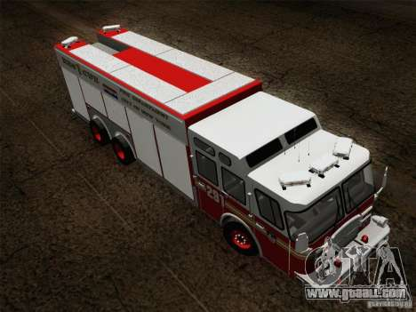 E-One F.D.N.Y Fire Rescue 1 for GTA San Andreas side view