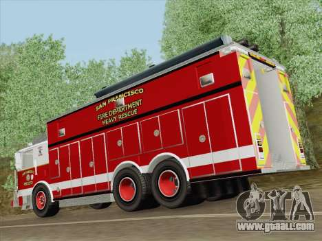 Pierce Walk-in SFFD Heavy Rescue for GTA San Andreas engine