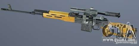 Dragunov sniper rifle (SVD) for GTA San Andreas second screenshot