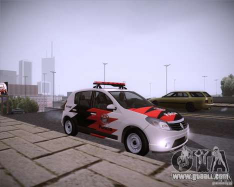 Renault Sandero Policia for GTA San Andreas right view