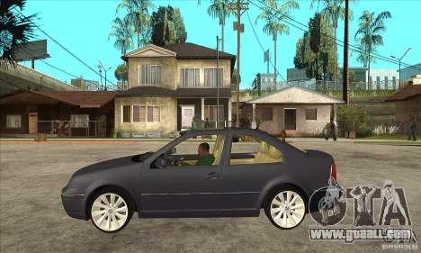 Volkswagen Bora VR6 4MOTION for GTA San Andreas left view