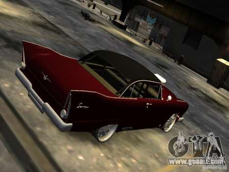 Plymouth Savoy Club Sedan 1957 Dragster Final for GTA 4 back left view