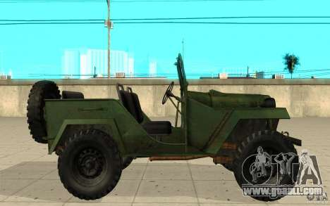 Gaz-67 for GTA San Andreas left view